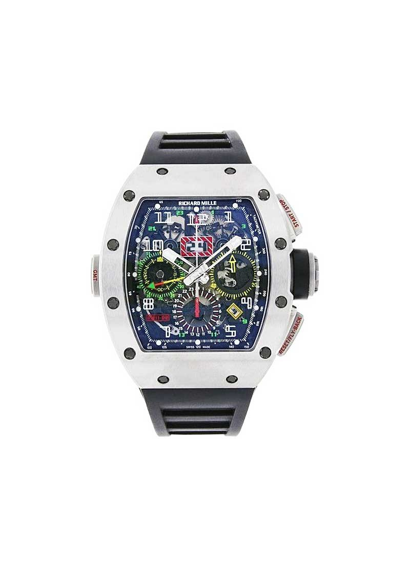 Richard Mille RM 11-02  Dual Time Zone GMT Flyback Chronograph in Titanium