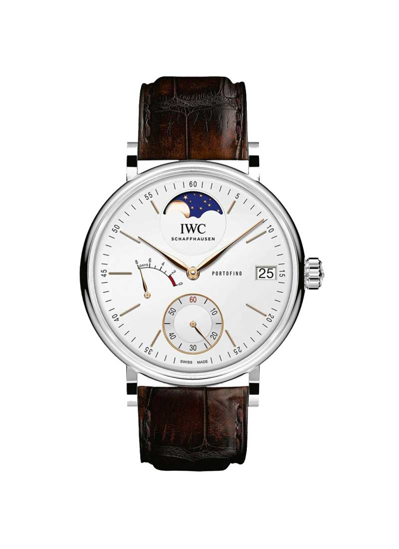 IWC Portofino Hand-Wound Eight Days Moonphase 45mm in Steel