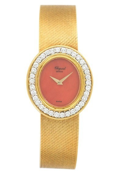 Chopard Circa 1970s in Yellow Gold with Diamond Bezel