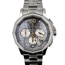 Corum Admirals Cup Legend Chronograph in Steel with Diamond Bezel