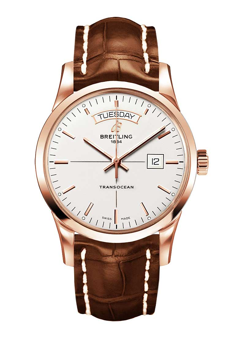 Breitling Transocean Day-Date Series in Rose Gold