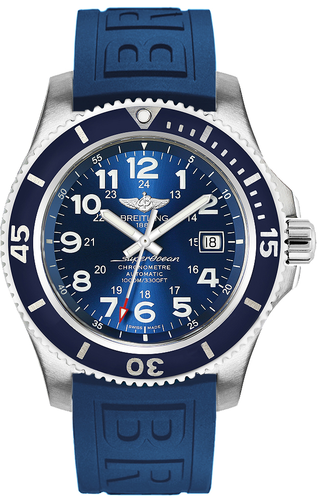 Breitling Superocean II in Steel with Blue Bezel