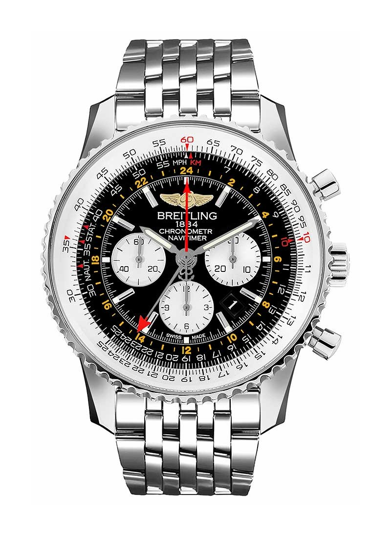 Breitling Navitimer GMT Chronograph 48mm in Steel