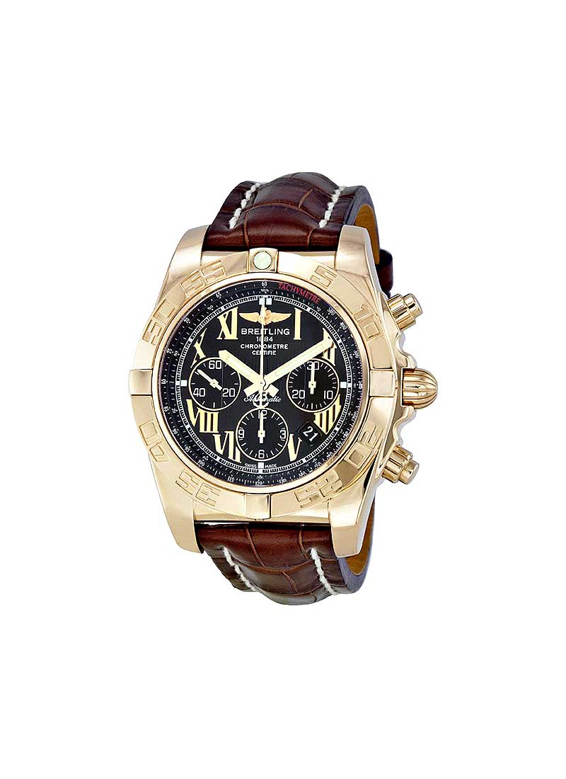 Breitling Chronomat 44 Chronograph 43.7mm Automatic in Rose Gold