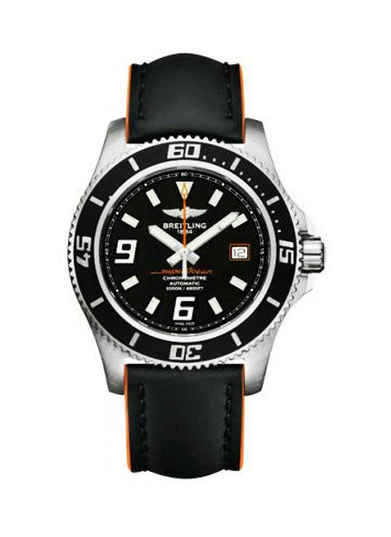 Breitling Superocean 42 Automatic in Steel with Black Bezel
