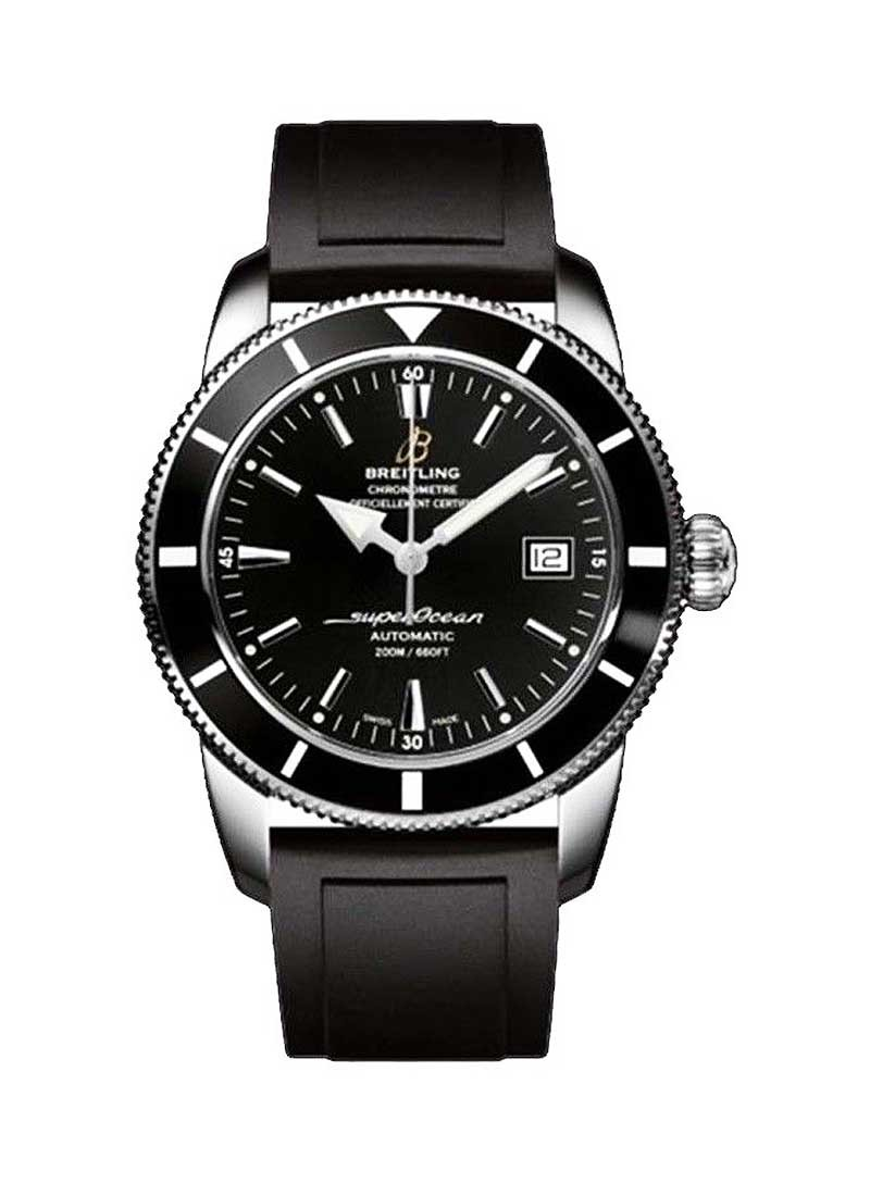 Breitling Superocean Heritage 42 Automatic in Steel with Black Bezel