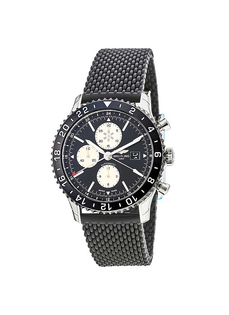 Breitling Chronoliner Chronograph in Steel with Black Bezel