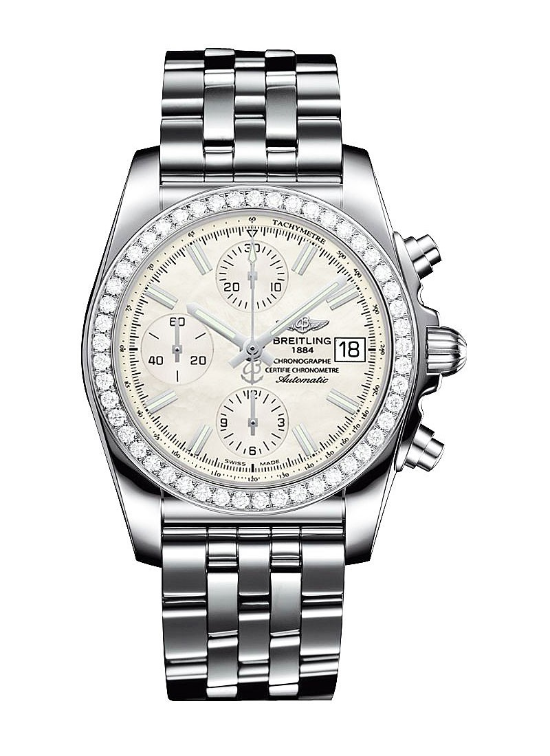 Breitling Chronomat 38mm in Steel with Diamond Bezel