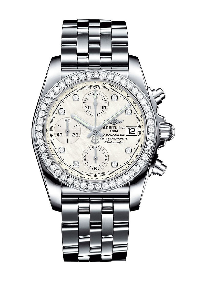 Breitling Chronomat Chronograph in Steel with Diamond Bezel