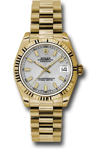 Rolex Unworn Datejust Perpetual 31mm in Yellow Gold with Fluted Bezel