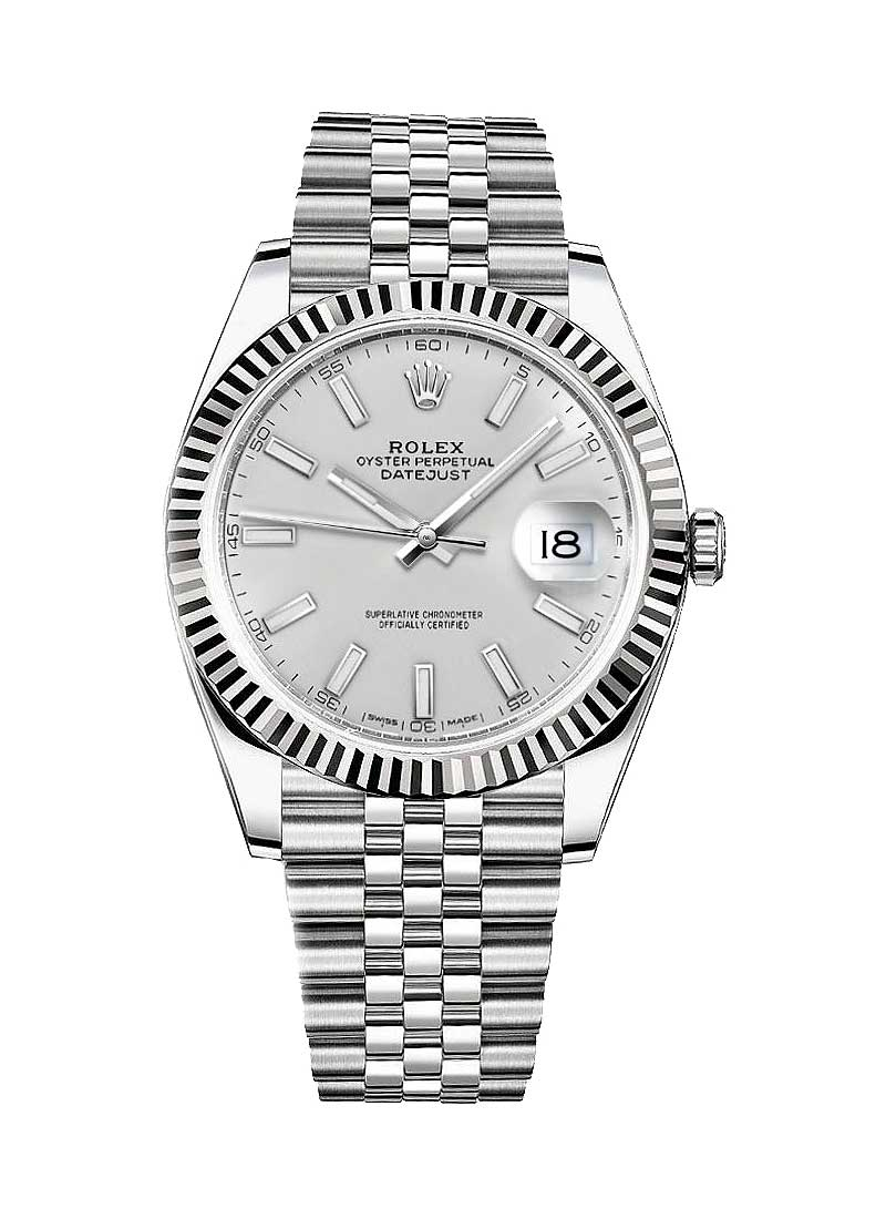 Datejust 41mm Automatic in White Gold and Steel