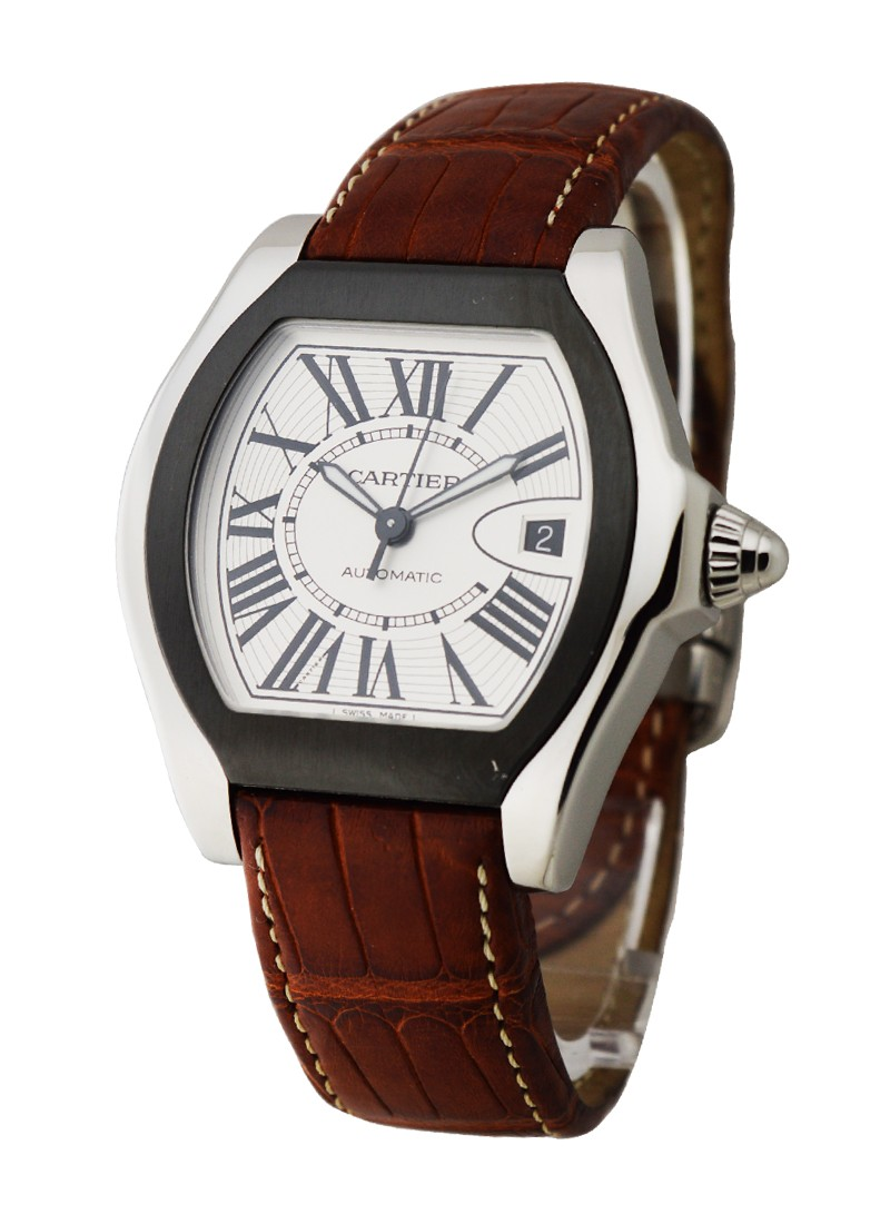 Cartier Roadster S with Brown Leather Strap