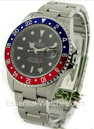 Pre-Owned Rolex GMT Master II 40mm with Blue and Red Bezel