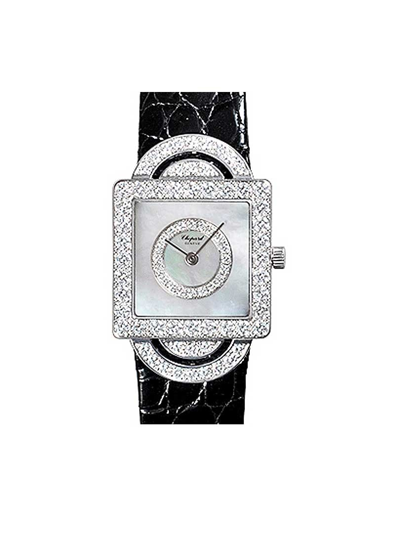 Chopard Your Hour H Watch in White Gold with Diamond Case