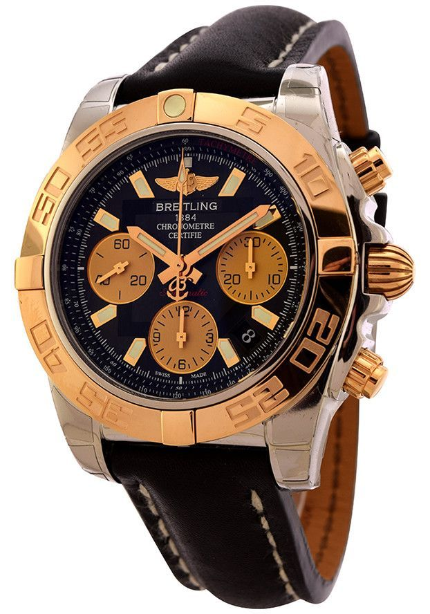 Breitling Chronomat 41 in Steel with Rose Gold Bezel