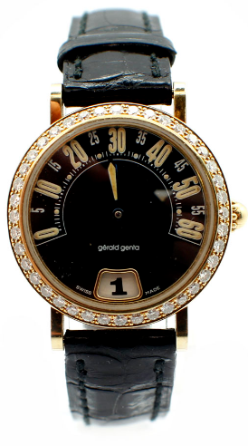 Gerald Genta Arena Retro in Yellow Gold with Diamond Bezel