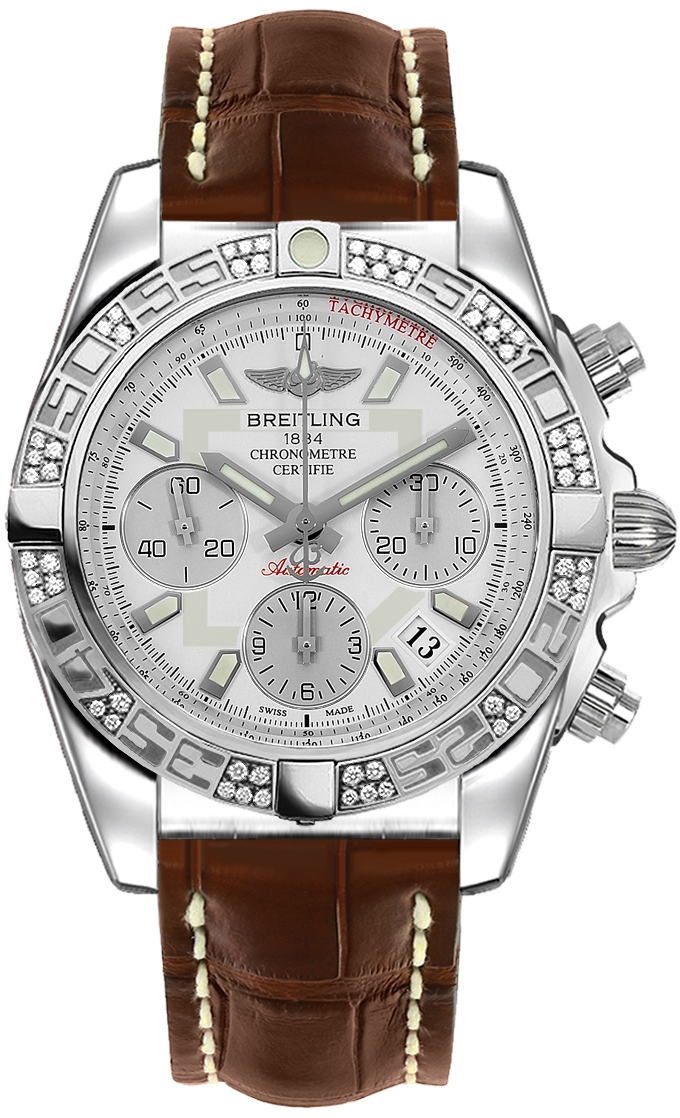 Breitling Chronomat 41 in Steel with Diamond Bezel
