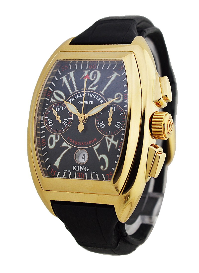Franck Muller King Conquistador Chronograph in Yellow Gold