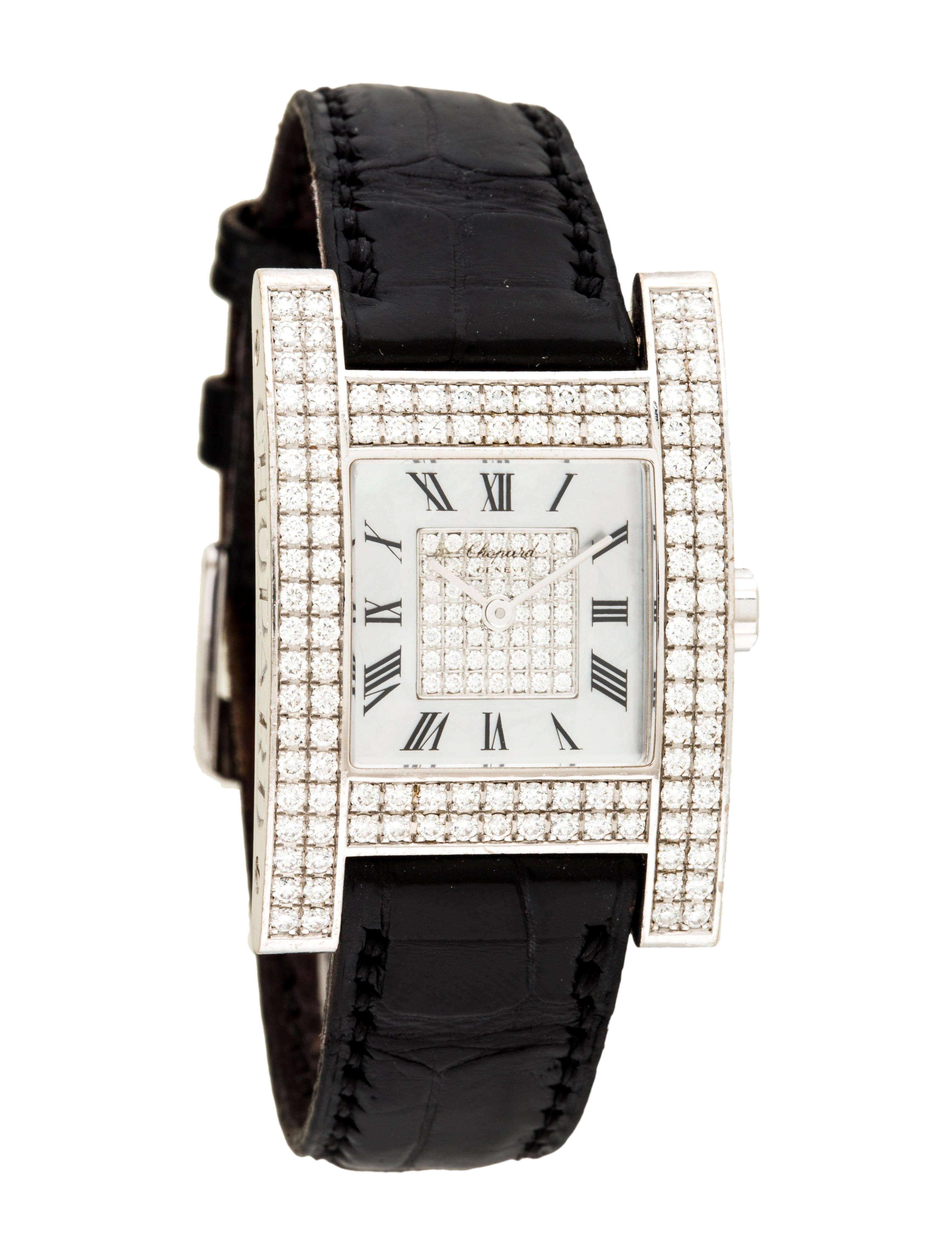 Chopard Your Hour H Watch in White Gold with Diamond Bezel