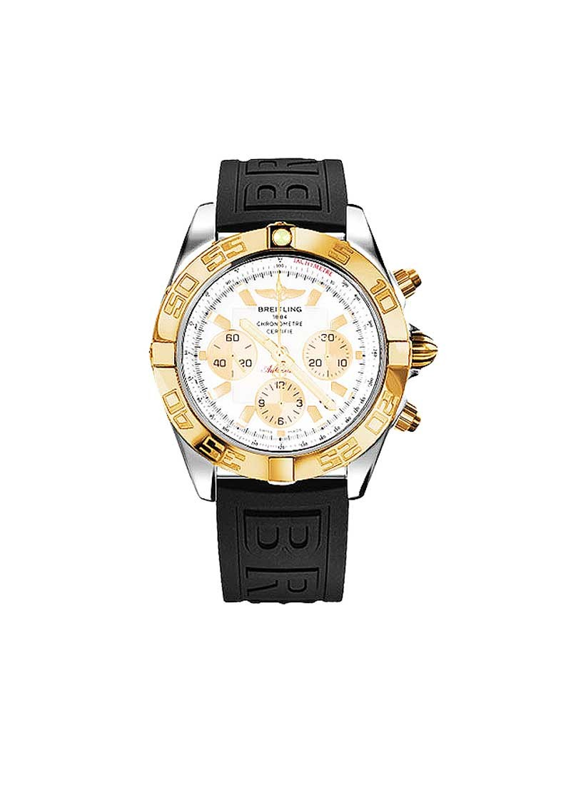 Breitling Chronomat 44 Chronograph 2-Tone in Steel with Rose Gold Bezel
