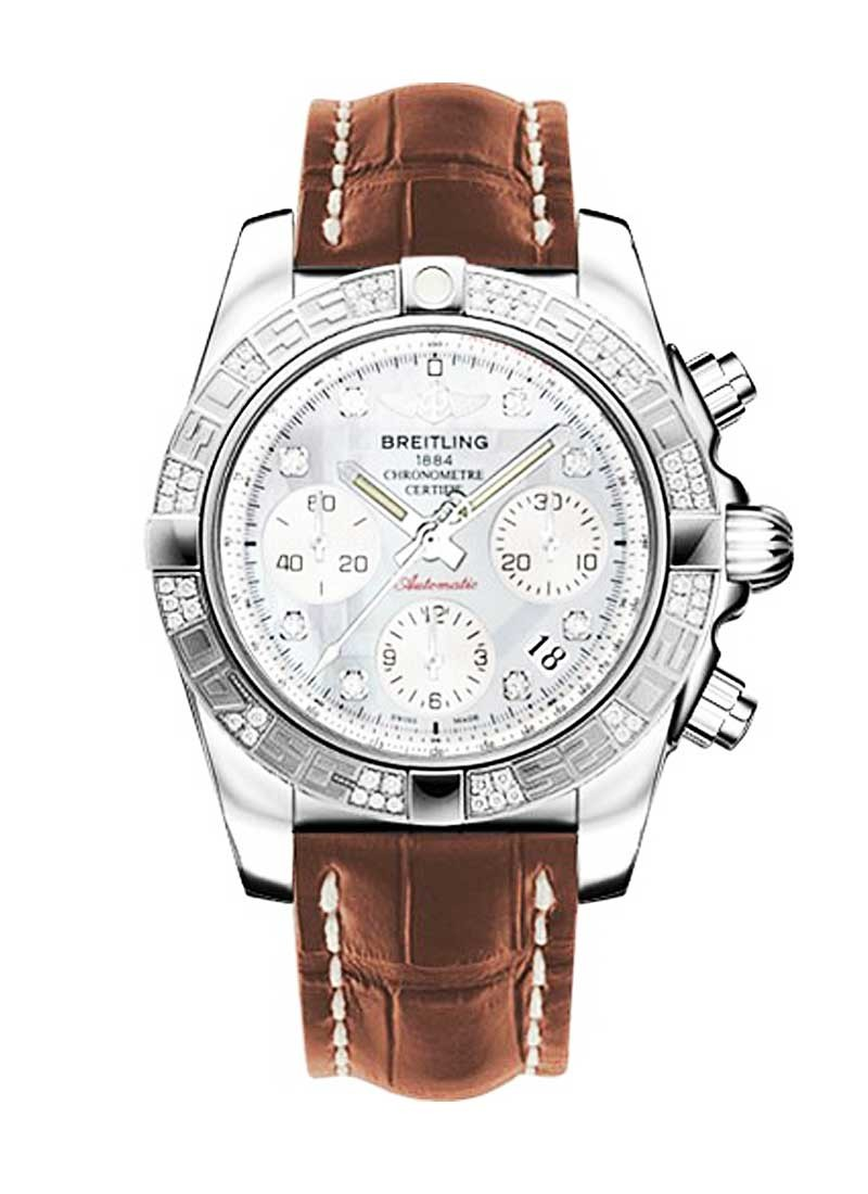 Breitling Chronomat 41mm in Steel with Diamond Bezel