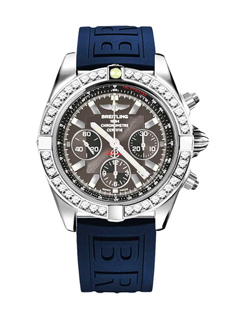 Breitling Chronomat 41 Men's Chronograph in Steel with Diamond Bezel