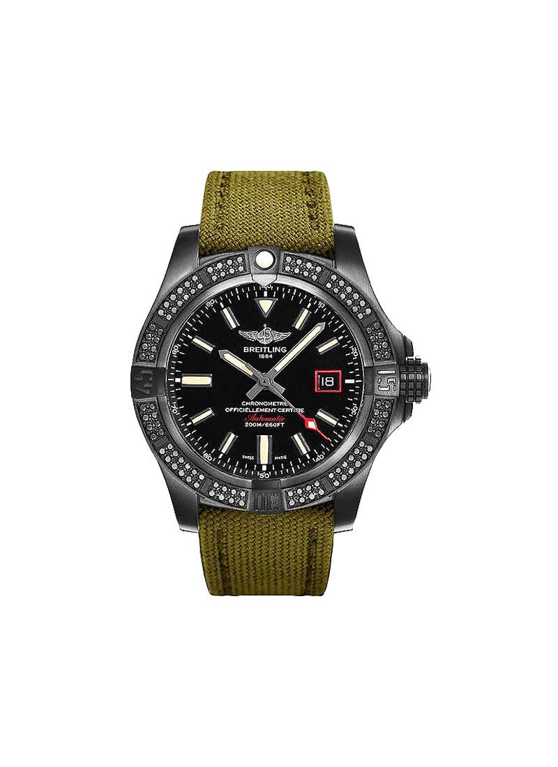 Breitling Avenger Blackbird 44 in Black Titanium with Diamond Bezel