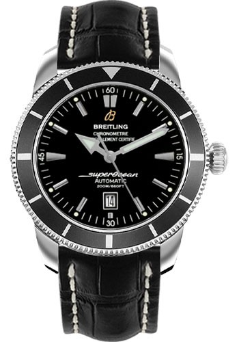 Breitling Superocean Heritage 46mm in Steel with Black Bezel