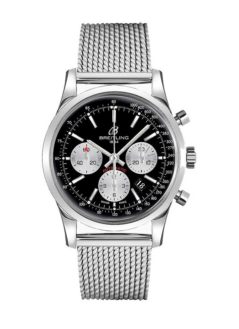 Breitling Transocean Chronograph 43mm in Steel