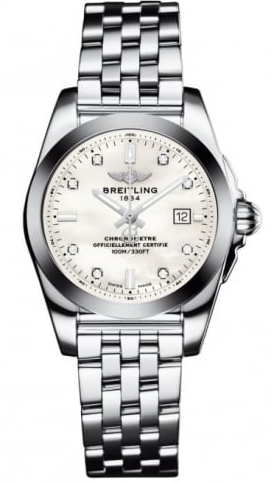 Breitling Galactic 29mm Quartz in Steel with Diamonds