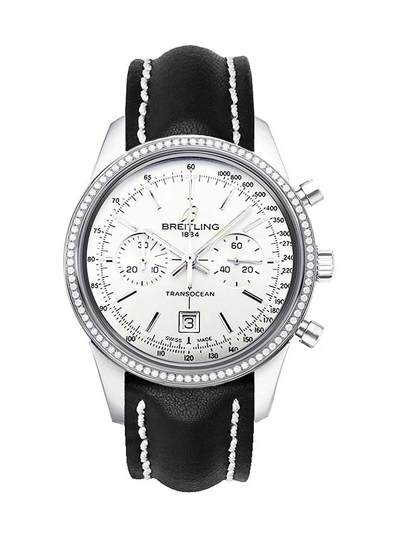 Breitling Transocean Automatic 38mm in Steel with Diamond Bezel