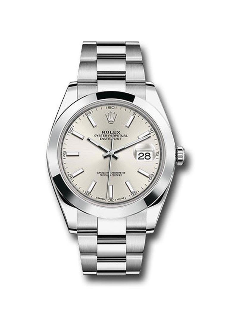 Rolex Unworn Datejust 41mm in Steel with Smooth Bezel