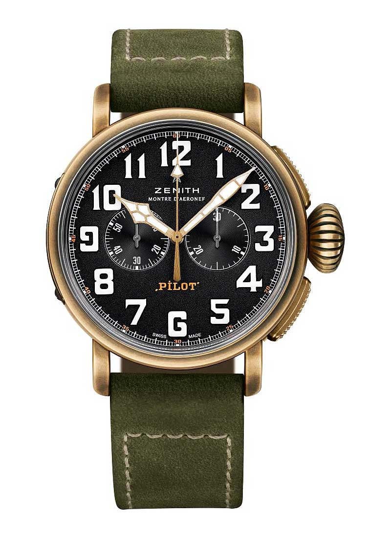 Zenith Pilot Montre d'Aeronef Type 20 Extra Special 45mm Automatic in Bronze