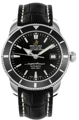 Breitling Superocean Heritage 42mm in Steel with Black Bezel