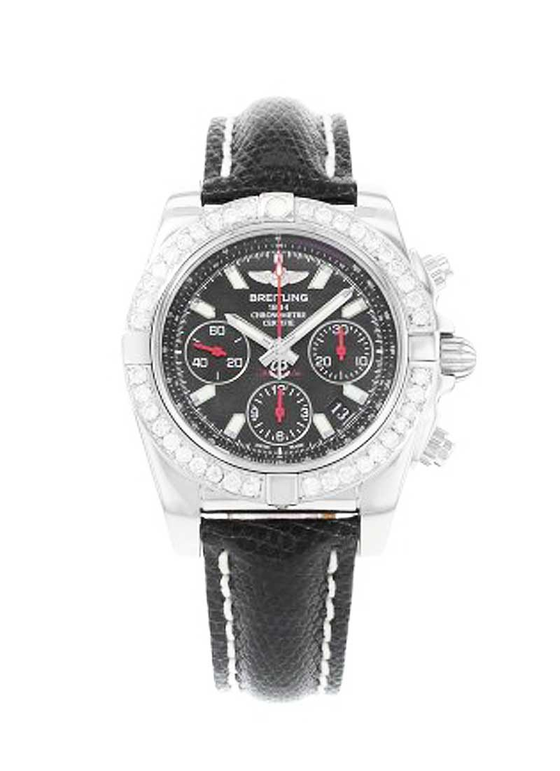 Breitling Chronomat 41mm in Steel with Diamonds Bezel