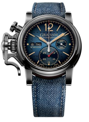 Graham Chronofighter Vintage Aircraft 44mm in Steel and PVD