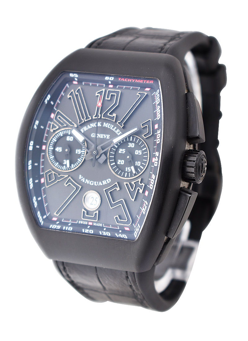 Franck Muller Vanguard Chronograph in Black PVD Coated Titanium