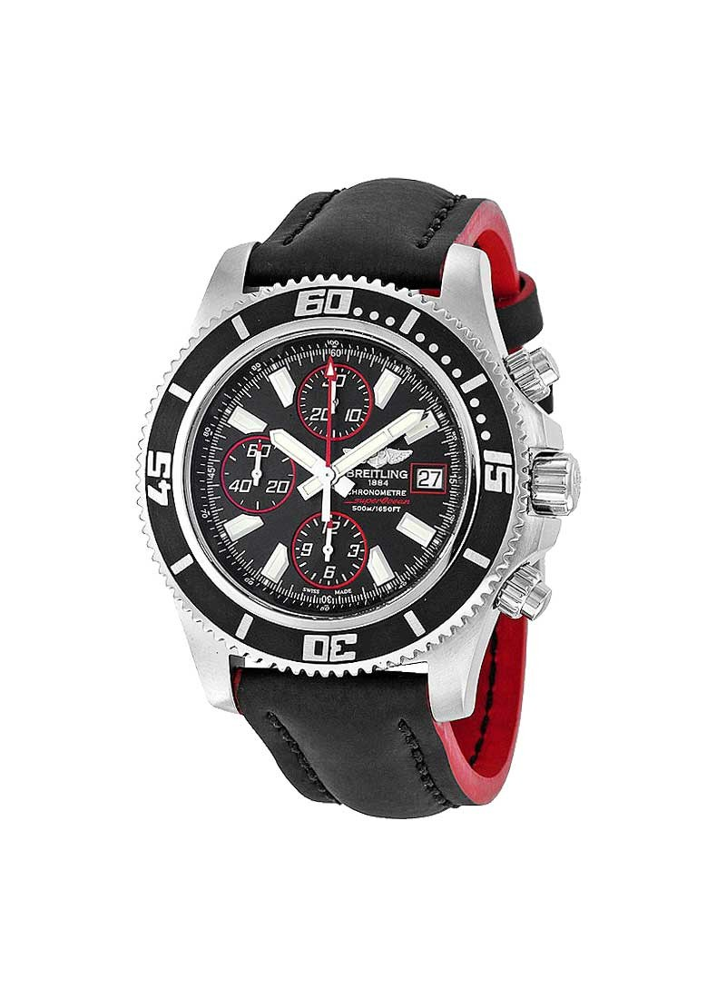Breitling Superocean Abyss Chronograph II 44mm Automatic in Steel with Black Bezel