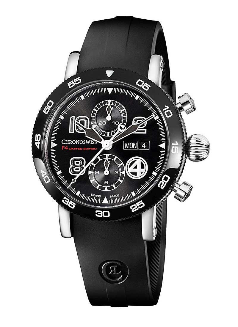 Chronoswiss Timemaster Chronograph F4 in Black DLC Coated Steel