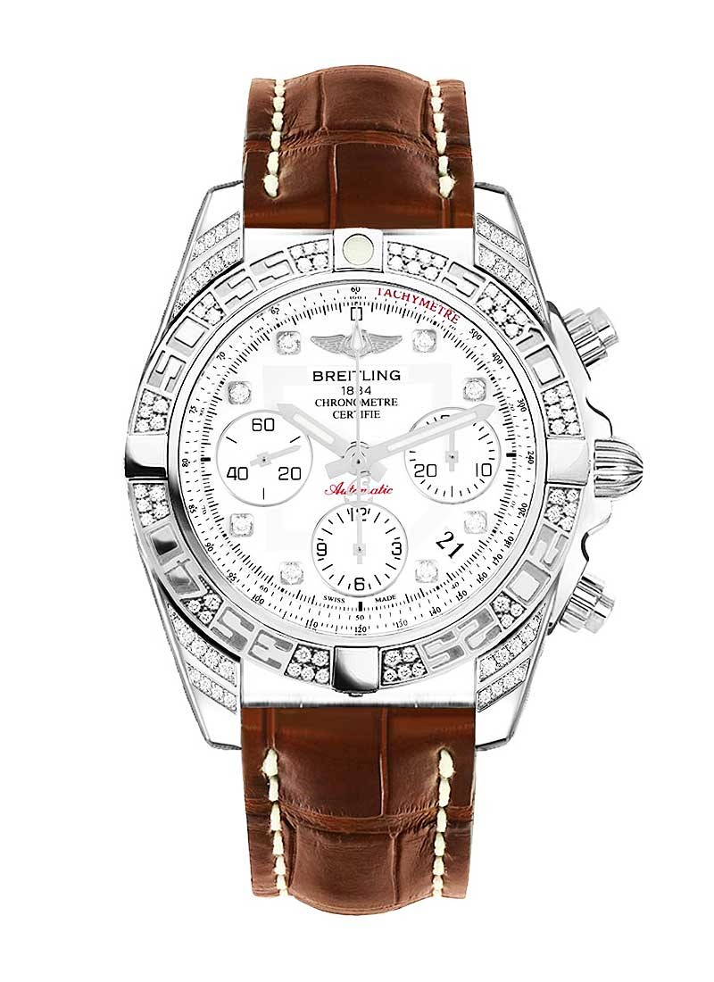 Breitling Chronomat 41mm Automatic in Steel with Diamond Bezel