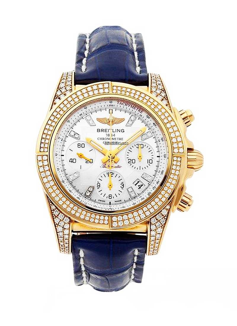 Breitling Chronomat Evolution with in Yellow Gold with Diamond Bezel