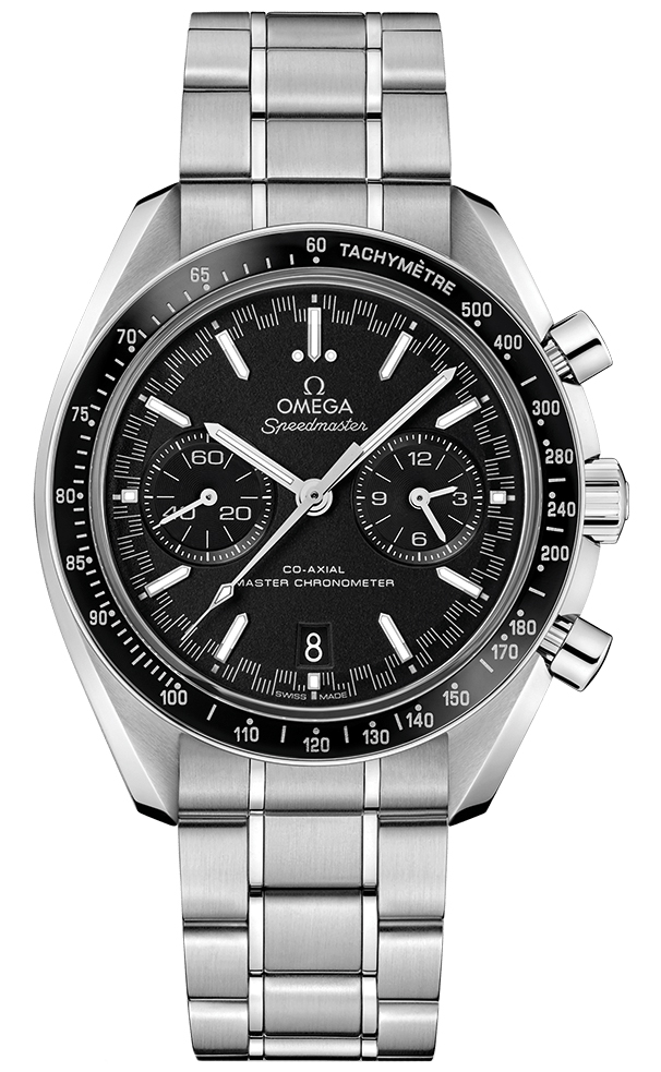 Omega Speedmaster Racing Master Co-Axial in Steel with Black Bezel