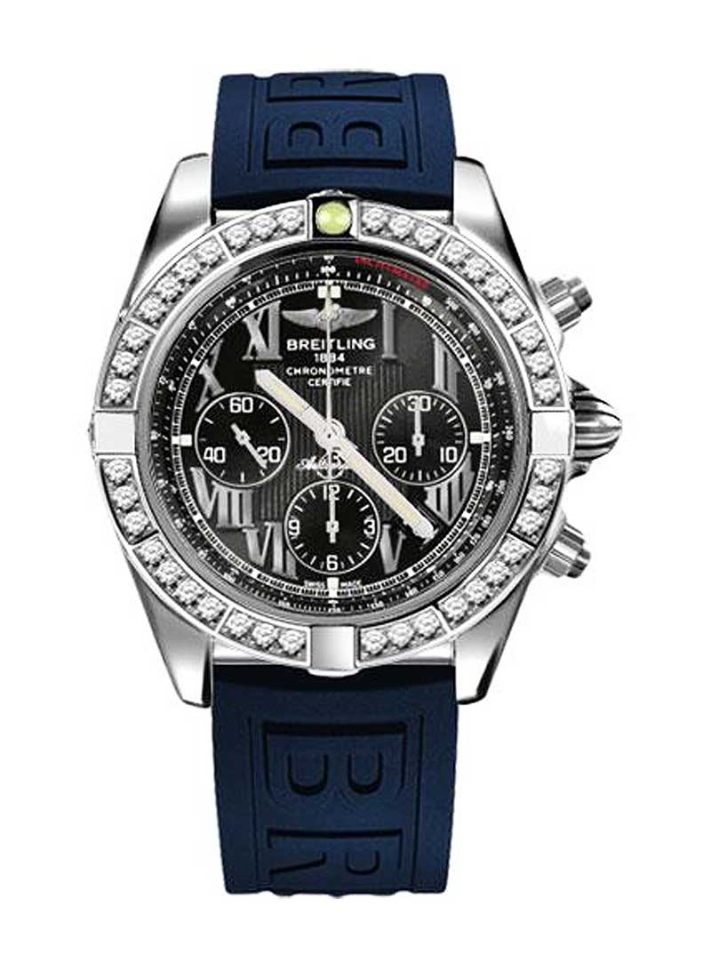 Breitling Chronomat 44 in Steel with Diamond Bezel