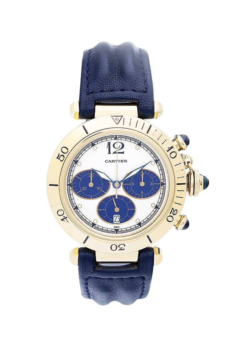 Cartier Pasha De Chronograph 38mm in Yellow Gold