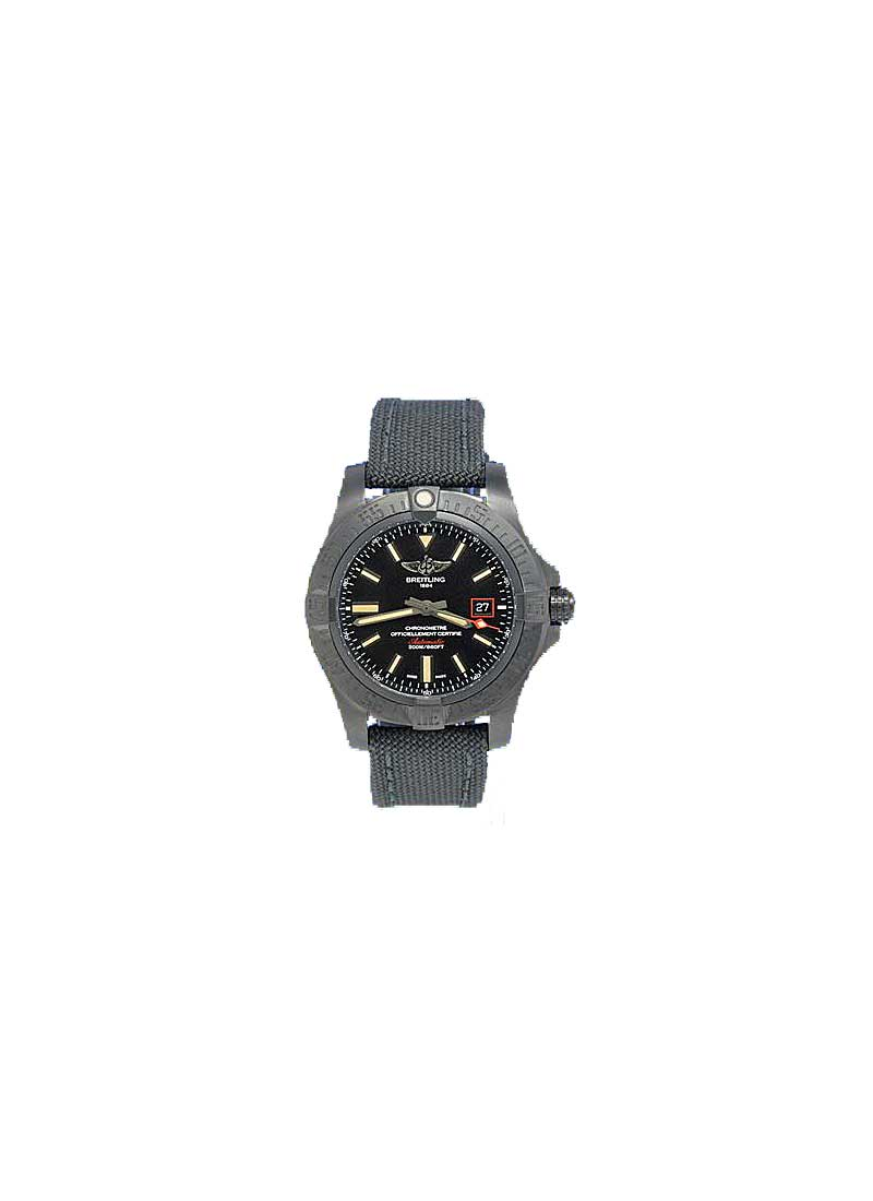 Breitling Avenger II GMT 43mm in Black Steel