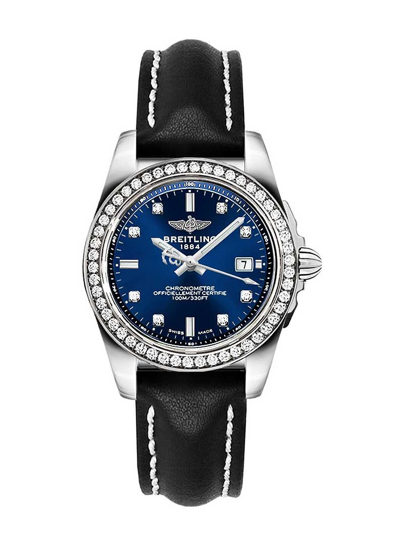 Breitling Galactic 32 in Steel with Diamond Bezel