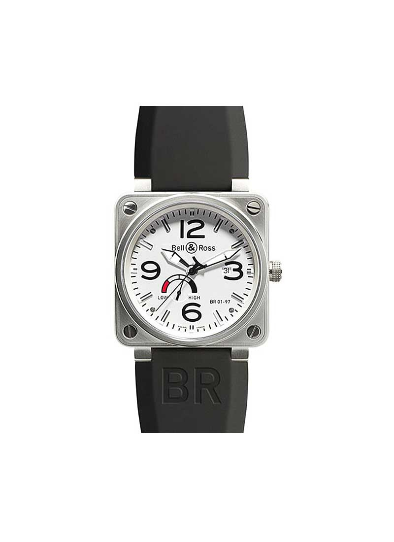 Bell & Ross BR 01-97 Power Reserve 46mm in Steel