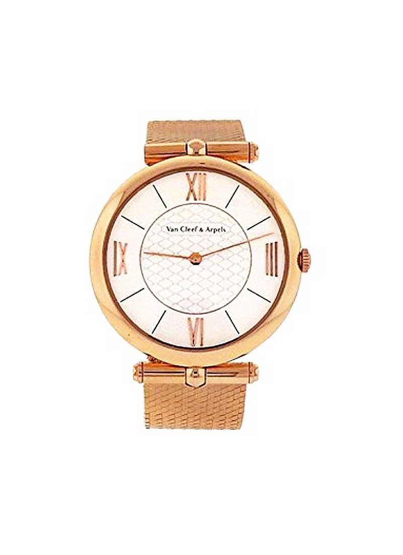 Van Cleef Piere Arpels 38mm in 18KT Rose Gold