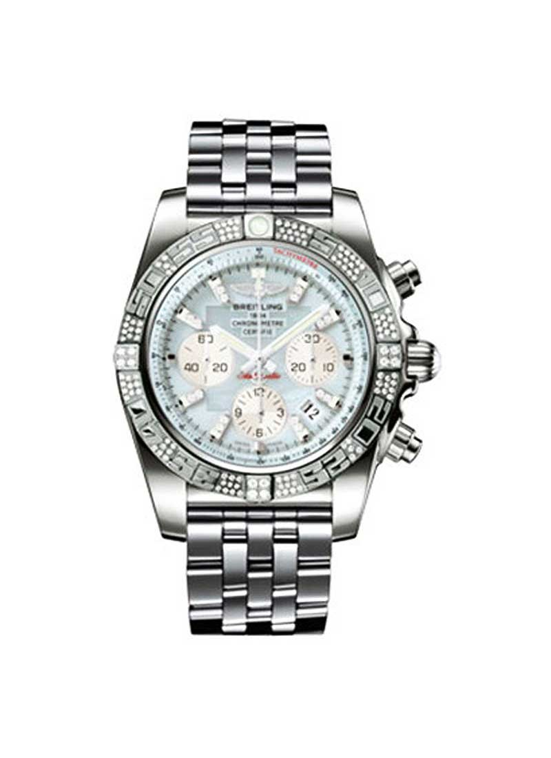 Breitling Chronomat 44 Automatic in White Gold with Diamond Bezel