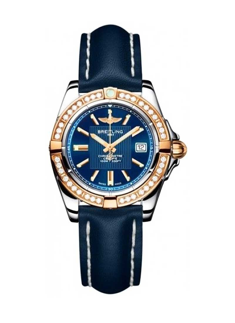 Breitling Galactic 32mm Quartz in Steel with Rose Gold Diamond Bezel